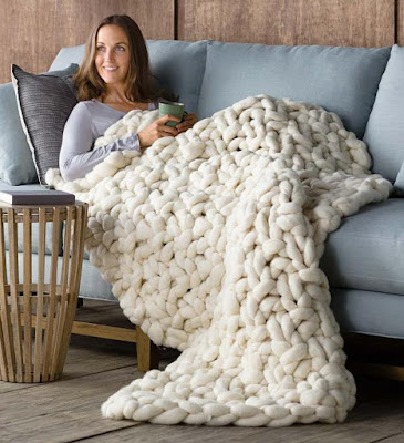 Chunky Knit Peruvian Wool Throw
