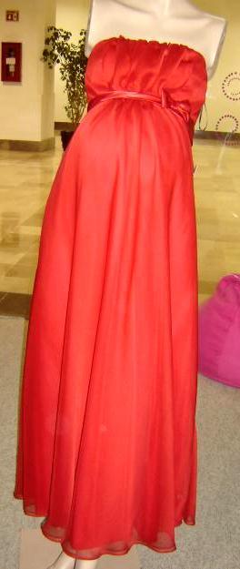 Foto de vestido rojo de maternidad - vestido para embarazada