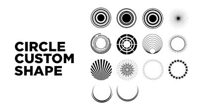 Custom circles shapes