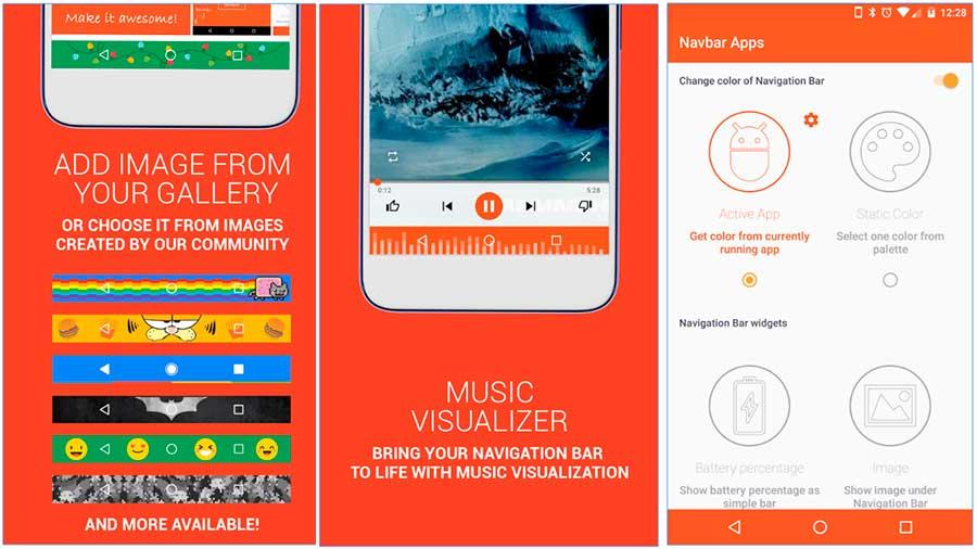 personalizar barra de navegacion en android