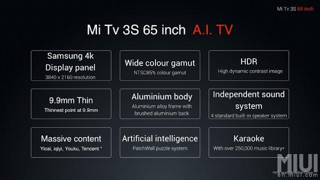 Mi TV 3S - TV 4K barata da Xiaomi