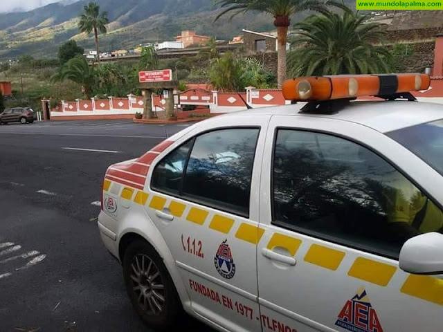 Un camión se avería en la carretera LP-3 en la zona de La Grama