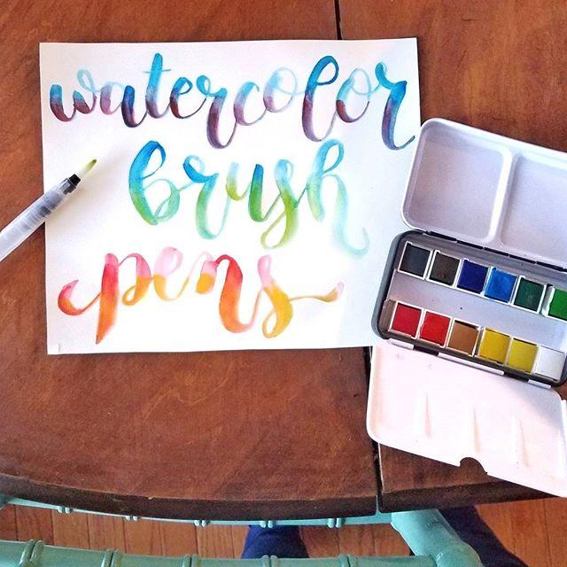 Modern Calligraphy Brush Lettering Free Alphabet Grosgrain