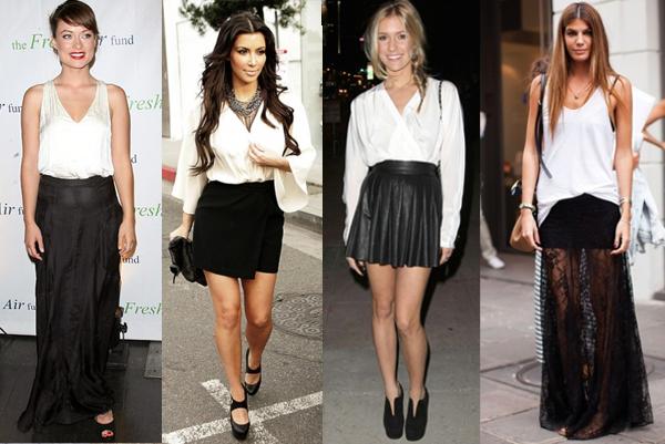 Resultado de imagem para moda preto com branco 2016