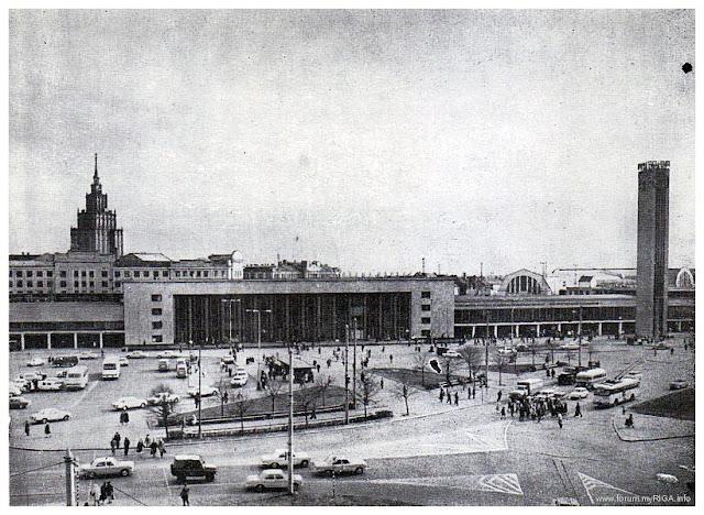 1976 год. Рига. Центральный Рижский железнодорожный вокзал