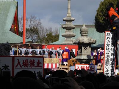 大阪・成田山不動尊の節分祭 追儺豆まき式