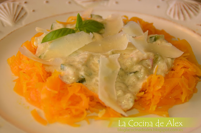 "Espaguetis Vegetales De Calabaza ""a La Carbonara"""