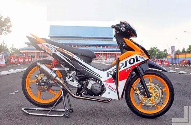 kumpulan modifikasi motor honda blade terbaru