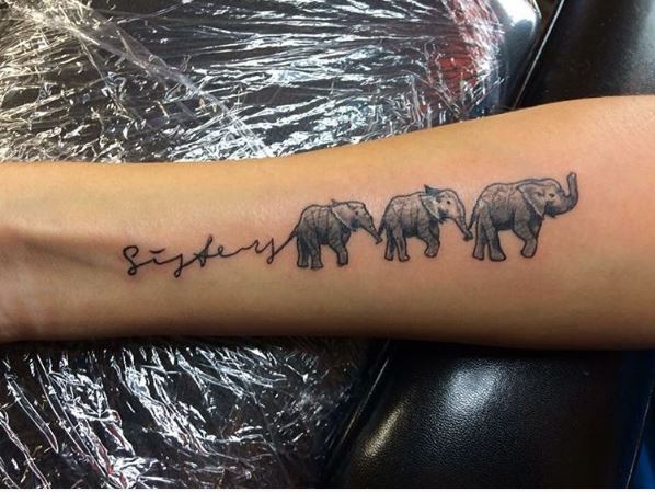 50 matching sisters tattoos designs and ideas 2017 for Tattoos for sisters of 3