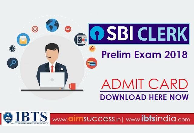 SBI Clerk Admit Card 2018 Out