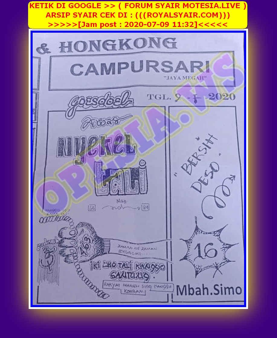 Kode syair Hongkong Kamis 9 Juli 2020 67