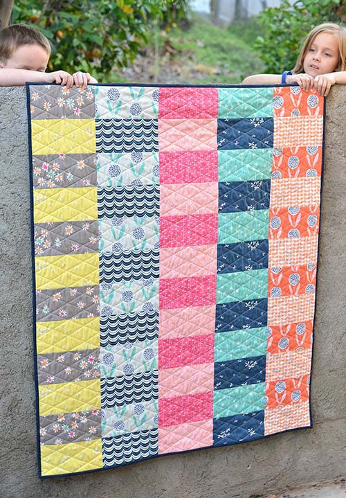 Super Simple Curiosities Quilt from Kitchen Table Quilting