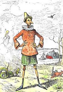 Ilustración de Pinocchio por Enrico Mazzanti
