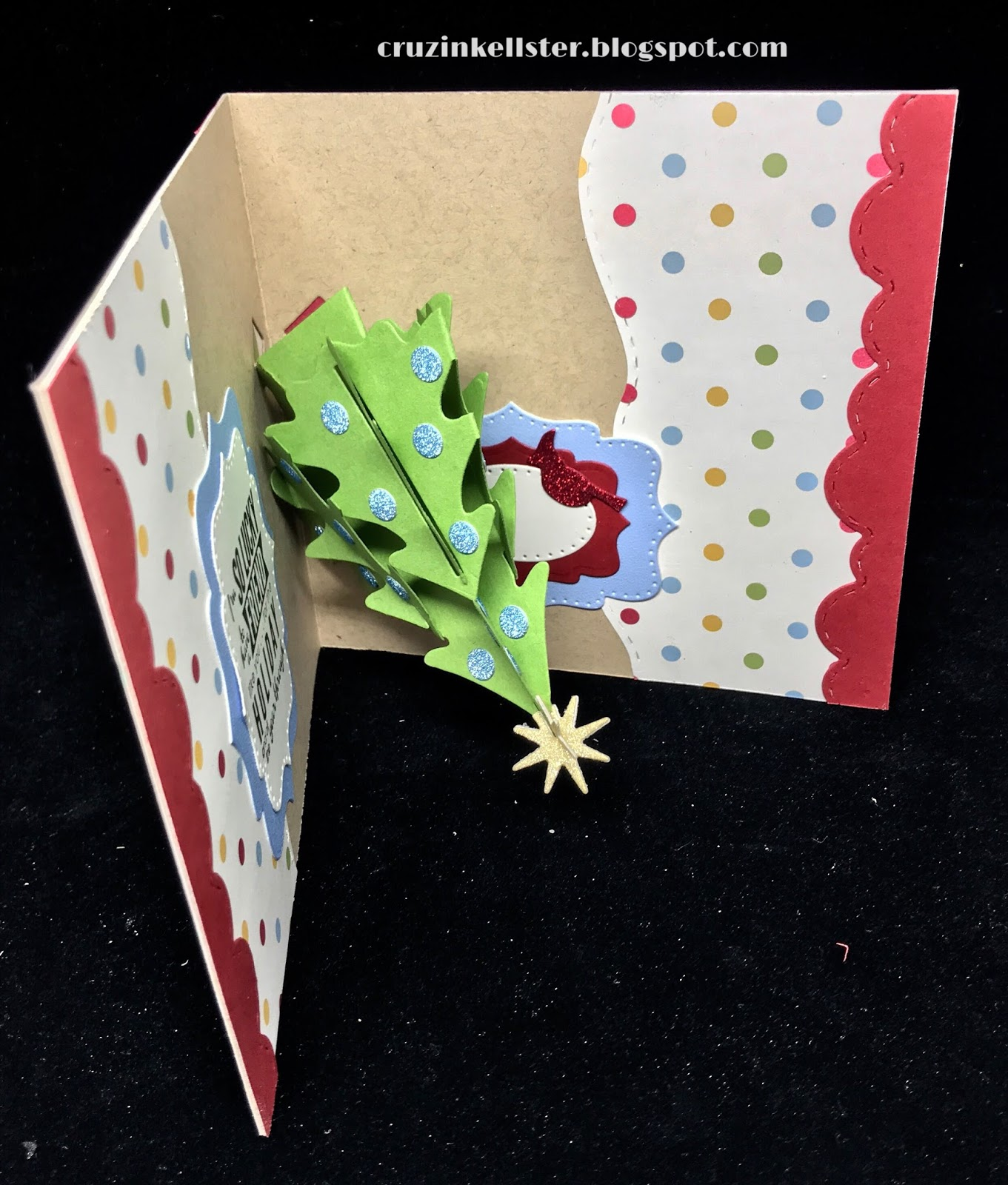 Lovin The Life I Color: A Christmas Tree Pop Up using dies by Karen ...