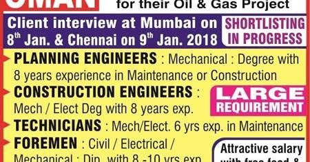 Arabian Industries Oman Jobs : Walk-in Interview in Mumbai & Chennai