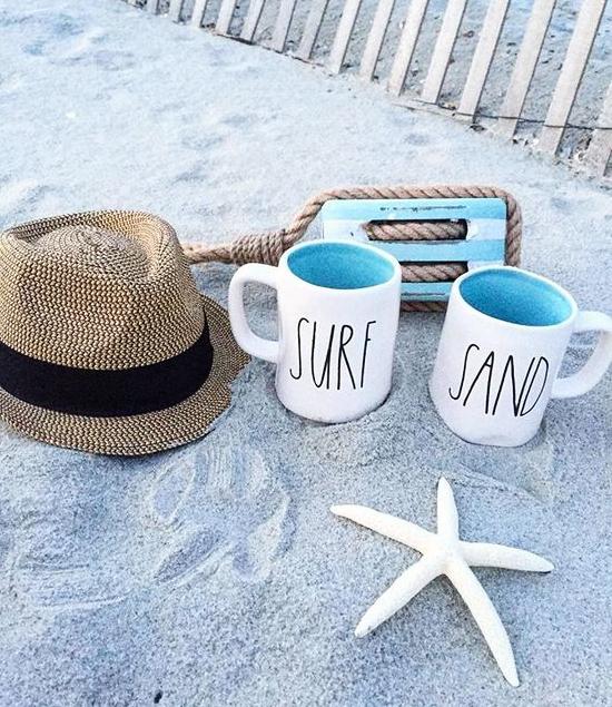 Rae Dunn Beach Sand Surf Mugs