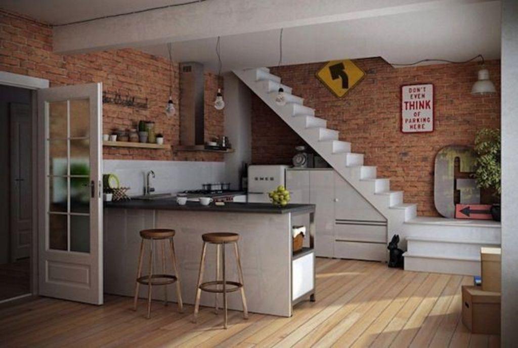 Gambar Desain Dapur Terbuka Tampak Bagus
