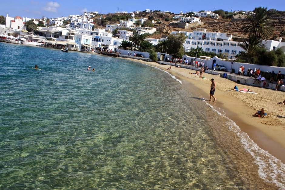Beach in Mykonos Town