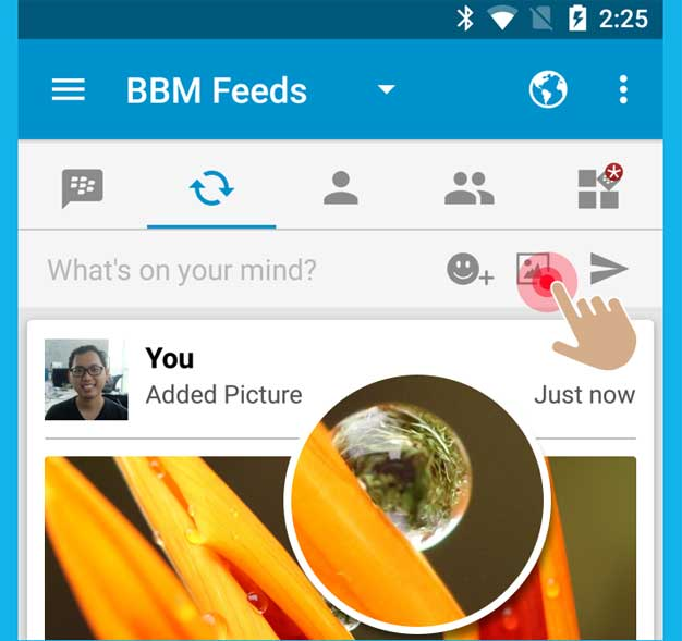 Cara Upload Foto di Status BBM for Android