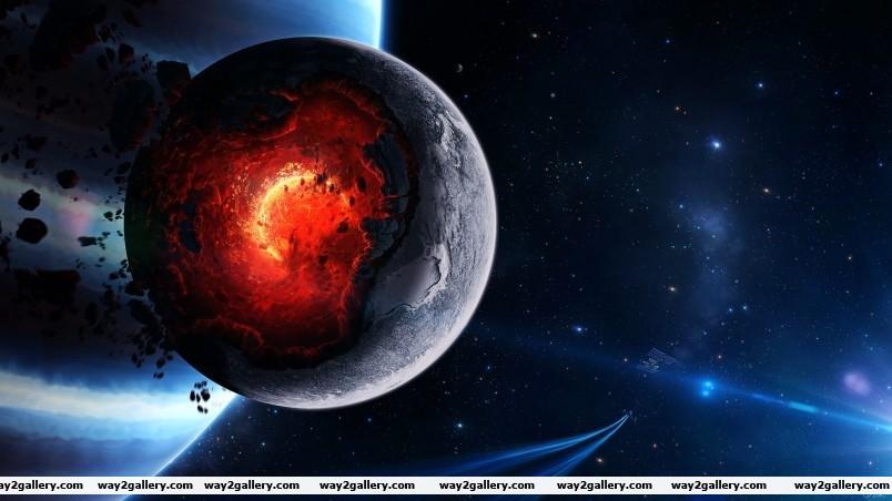 Planet meltdown wallpaper