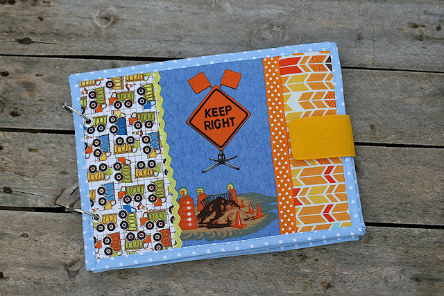 Detour Ahead construction fabric book