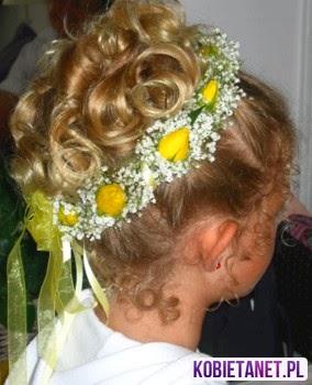 Komunia Fryzury Dla Dziewczynek Włosy Koloryzacja Pielęgnacja