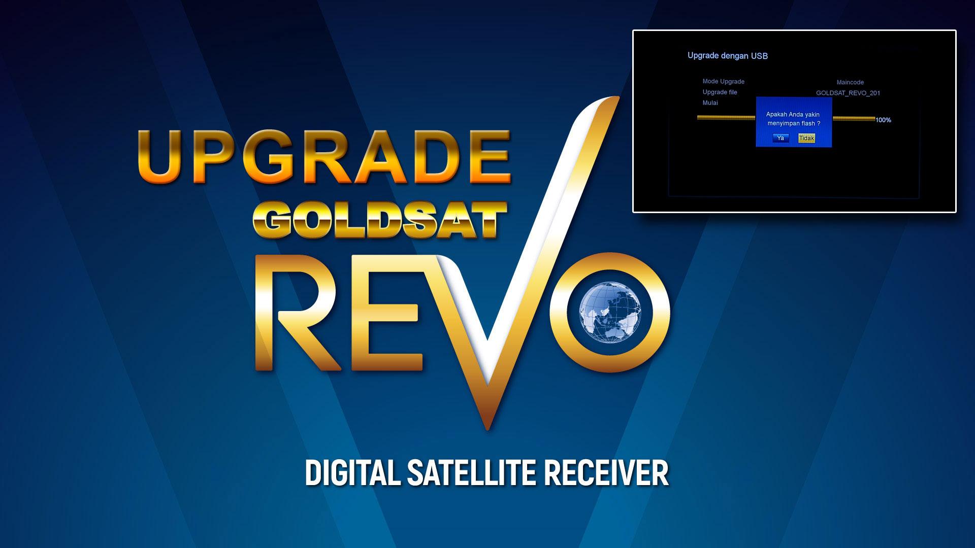 Cara Upgrade Goldsat Revo HD Receiver Khusus Ninmedia