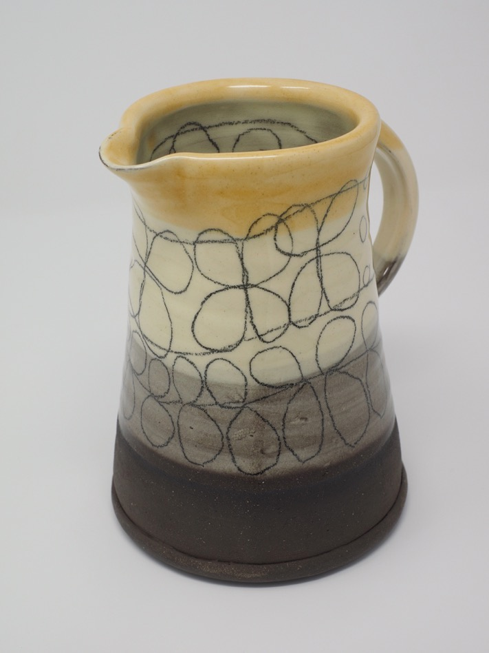 Black earthenware jug by Sheila Herring
