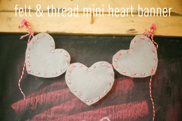Make a simple, Valentine's Day banner using felt and baker's