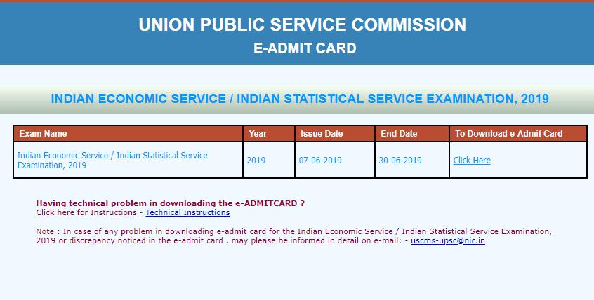 UPSC-ies-iss-admit-card-2019