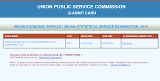 UPSC IES ISS 2019 Admit Card Out! Download Now
