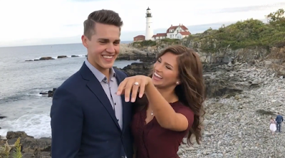 Carlin Bates and Evan Stewart engagement