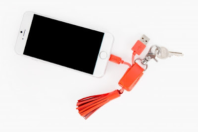 Tassel Recharging Cable Keychain