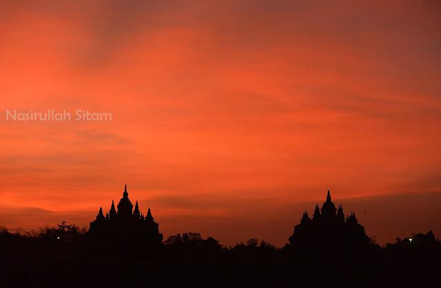 Langit indah kala pagi di Candi Plaosan