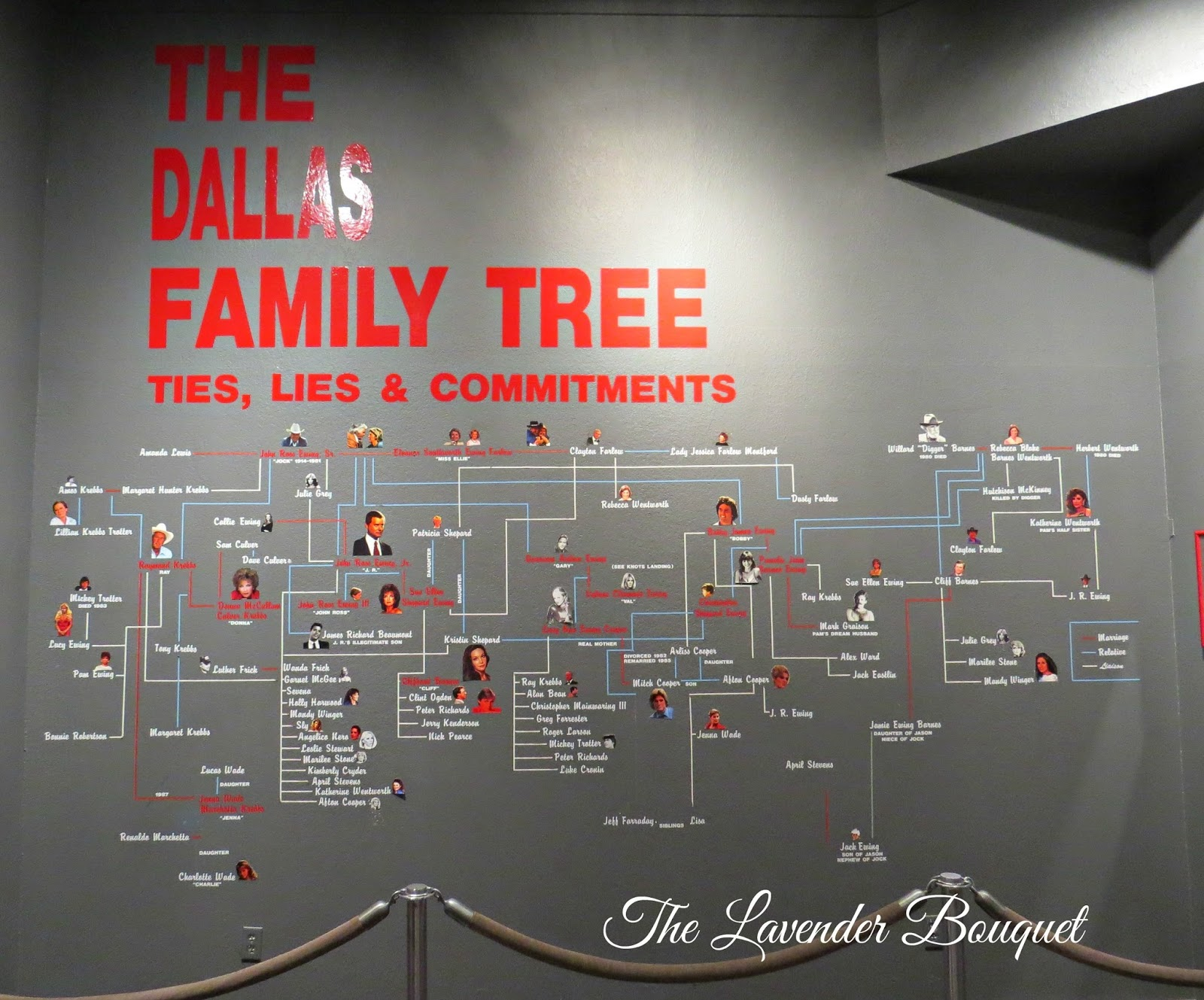 The lavender bouquet christmas tour at southfork ranch - Dallas tv show family tree ...