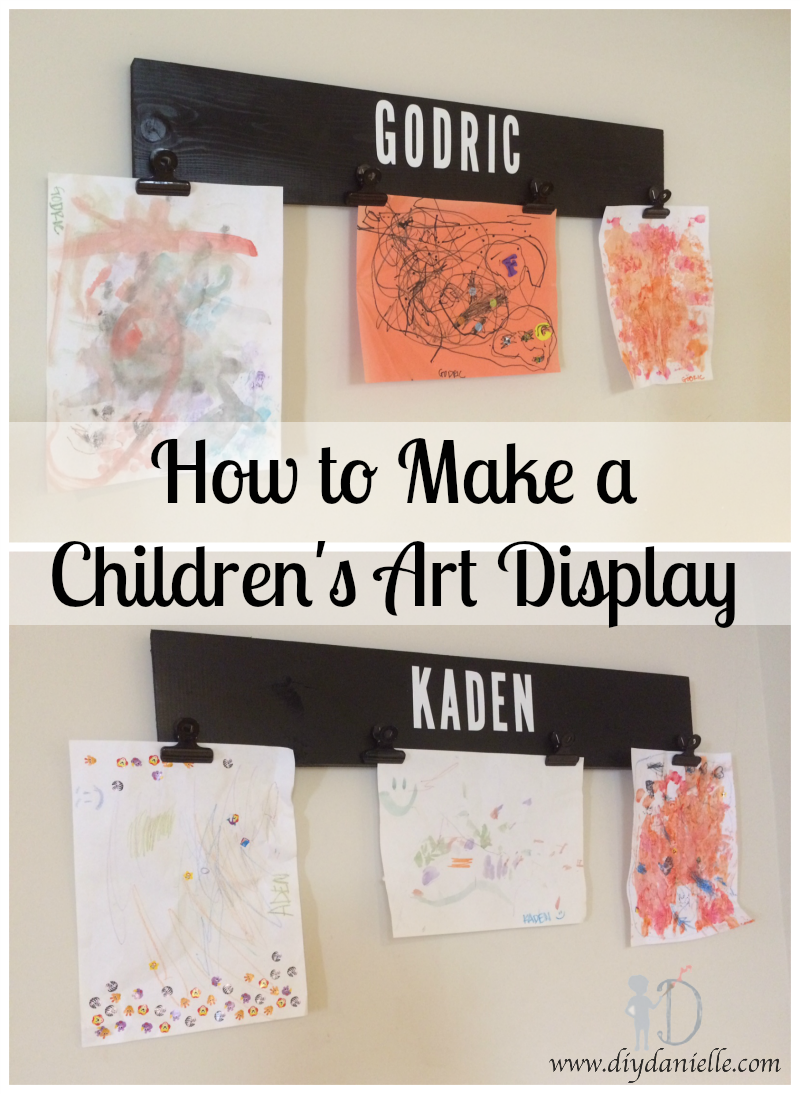 How to make a children's art display.