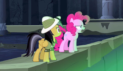 Daring Do and Pinkie by the slime pit
