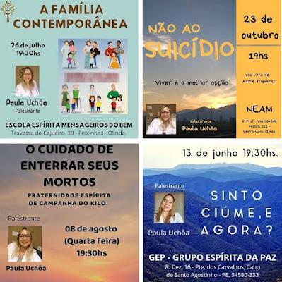 Palestras de Paula Uchoa no Blog EspiritualMente