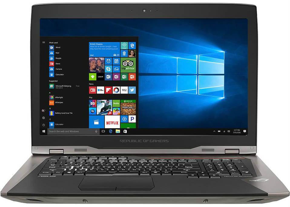 Ukuran Layar Notebook ASUS ROG GX800