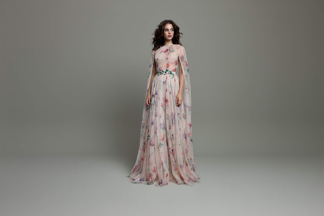 K'Mich Weddings - wedding planning - floral long caplet sleeves - Daalarna Collection 2019