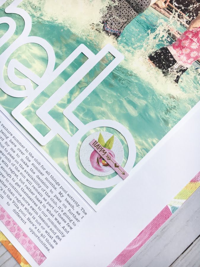 How To Use a Big Title On a Layout Jot Magazine Issue 18 - Hello Layout by Jamie Pate using Bella Blvd Make Your Mark Collection     @jamiepate for @bellablvd