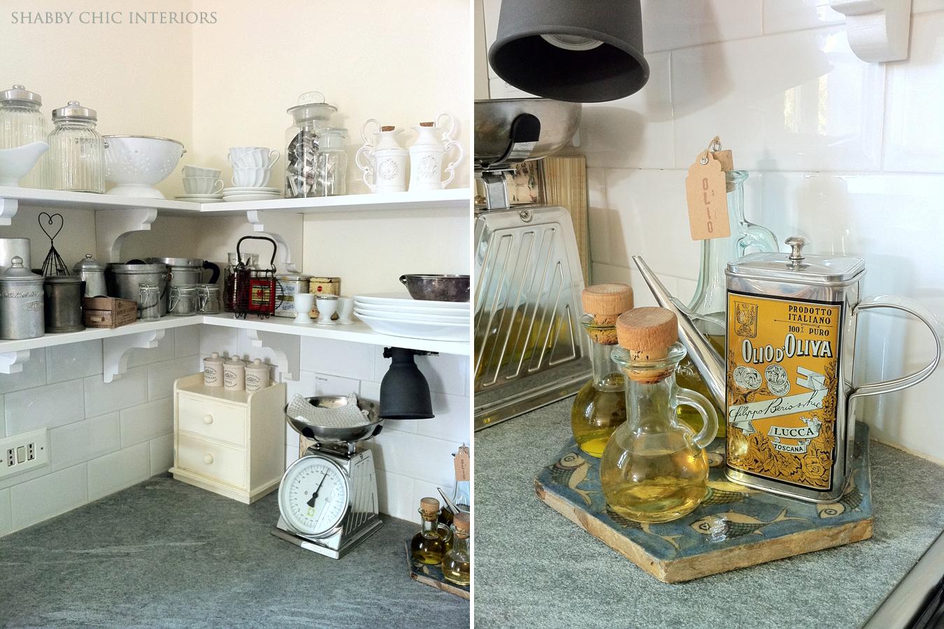 Dettagli in cucina shabby chic interiors - Mensole cucina country ...