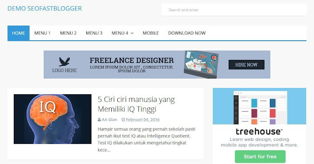 SEOfastblogger - Template Blog Simple Sederhana Gratis