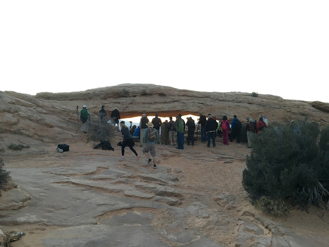 All the Photographers in front of Mesa Arch
