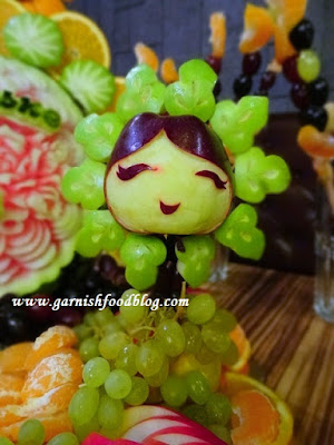 cute fruit sculptures