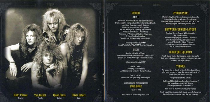 VAMP - The Rich Don't Rock [2CD remastered Deluxe Edition] booklet