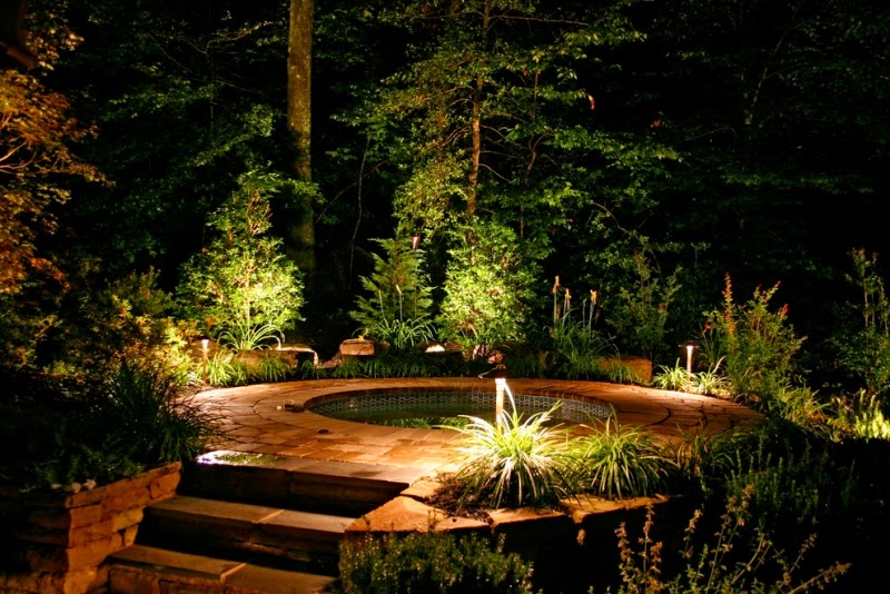 Pond Lighting Ideas. Creative Ideas For Outdoor Garden Lighting With  Decorative Led Lights Pond U