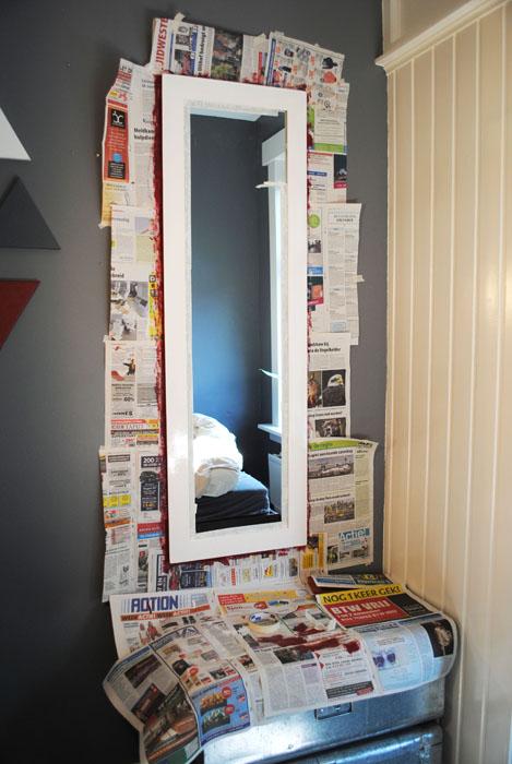 spiegel twee kleuren