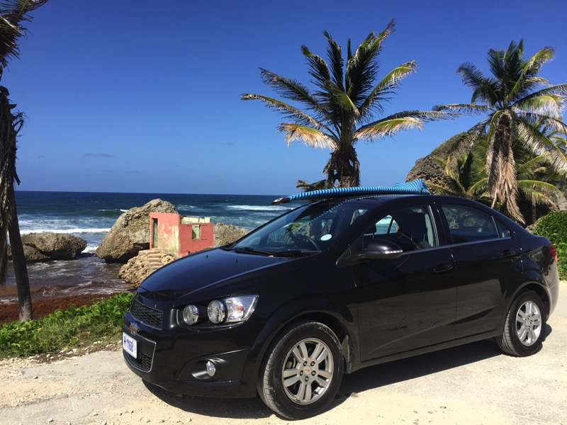 Alugando carro em Barbados