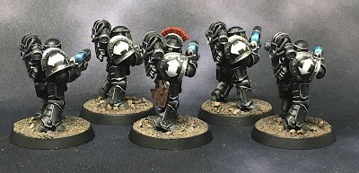 1st Legion Dark Angels Terran Tactical Support  Squad with plasma weapons
